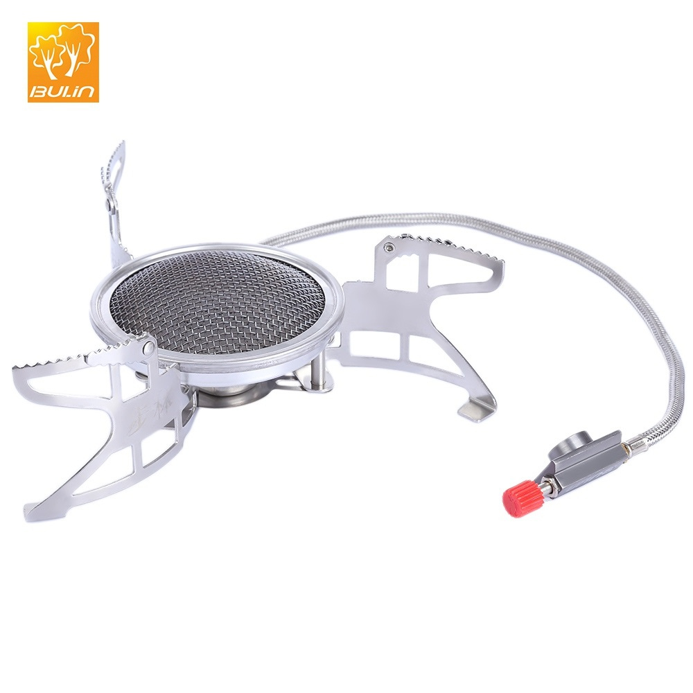 Bulin B15 Outdoor Gas Stove Folding Cooking Furnace Camp Cookware Split Gas Furnace Stove for Camping Hiking Picnic with Pot brs 15 camping gas stove ultralight portable collapsible windproof outdoor gas camp stove cookware for picnic camping hiking