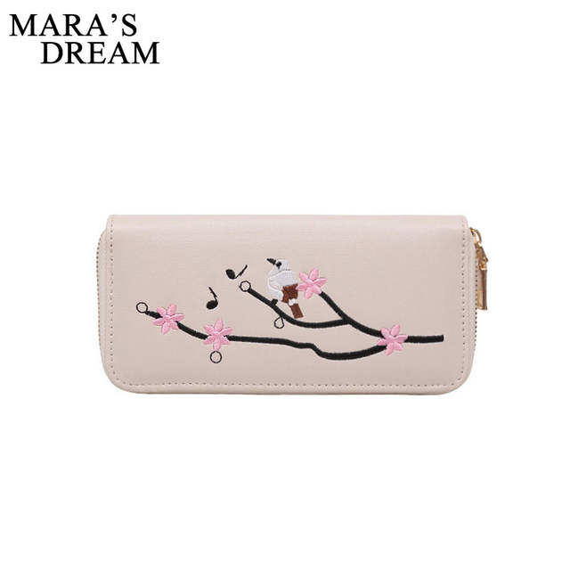 f4dd83ce920 placeholder Mara s Dream PU Leather Embroidery Rose Women Long Wallets  Phone Clutch Ladies Purses Black Purse Coin