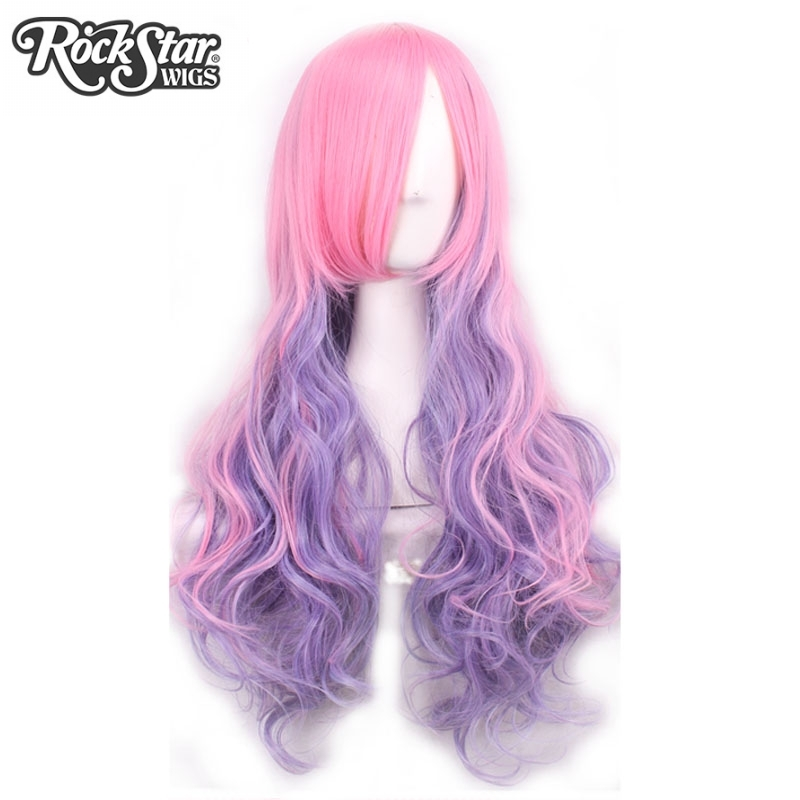 Hair extensions wigs rockstar wigs 7colors 70cm long wavy ombre cosplay wigs high temperature fiber synthetic hair pmusecretfo Images