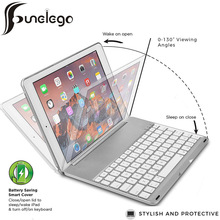 Bluetooth For IPad Air 9.7 Wireless Keyboard Case For Apple 2018 6th New iPad Shell Cover Color LED Keyboard Backlight цена