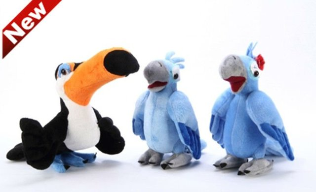 Discount Bird Toys : Freeshipping plush parrot bird rafael jewel blu plush toys doll