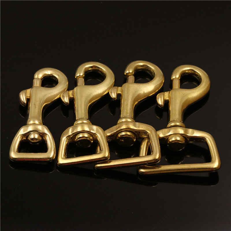 固体真鍮ロブスタートリガースイベルスナップフック高品質レザークラフトバッグストラップベルトフッククラスプヘビーデューティペット犬の鎖c