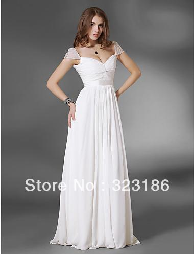 7d58f85b08 Vanessa Gossip Girl Season 3 sweetheart cap sleeves beaded short sleeves  chiffon evening Princess Celebrity Dress