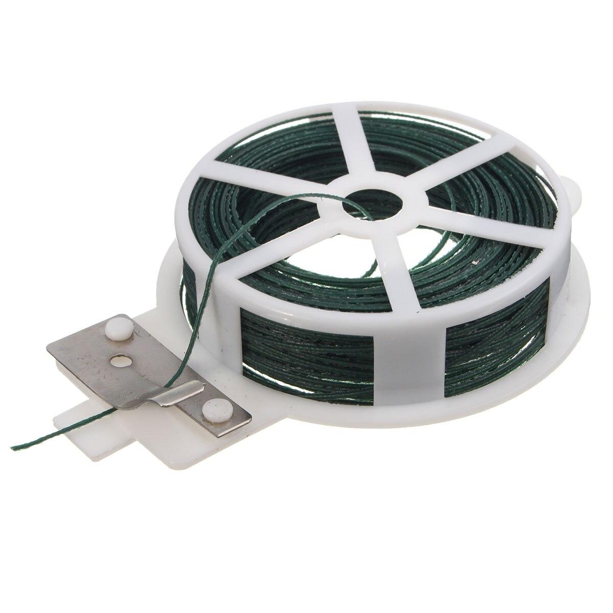 Newest Cable Tie 30M Roll Wire Twist Tie Reel Green Garden Gardening ...