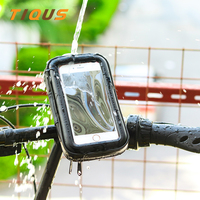 Waterproof Bike Mount 360 Rotation Motorcycle Bike Cell Phone Holder Bag Pouch Bicycle Phone Mount For