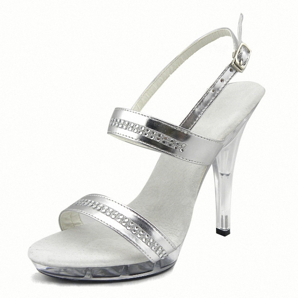 Sexy Crystal Shoes High-Heeled Shoes 13cm Ultrafine Sandals Women's Shoes 4 Inch High Heels With Rhinestone Shoes 20cm high heeled shoes sexy shoes full transparent crystal bag sandals performance shoes 8 inch high heeled shoes
