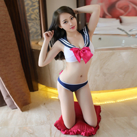94c678430 Sexy Lingerie School Uniform Temptation Set Bra Brief Women Sexy Underwear  Brassiere Babydoll Sexy Cosplay Sailor