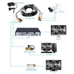 Image 3 - 32ft bnc dc コネクタビデオ電源シャムケーブル 4 ピース/ロット cctv カメラ dvr