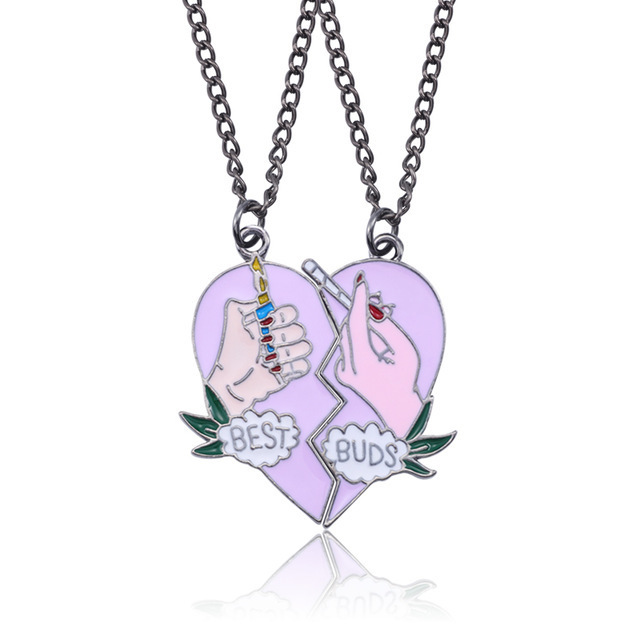 Fashion Bohemian Best Friends BFF Pendant Necklaces 3 PCS Set Charms Heart Necklace Rhinestone Choker Statement Necklace Jewelry in Pendant Necklaces from Jewelry Accessories