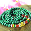 Beads 5.5mm malachite beads bracelets for women men jewelry green stone Lucky wealth mantra prayer beads wristband gift 0488