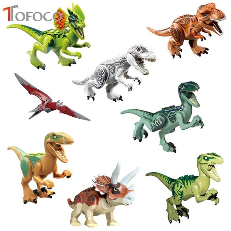 TOFOCO 8 Pcs/Lot ChildrenS Favourite Educational Dinosaur Bricks Toy Building Blocks Mini Dinosaurs Figures Model Toy