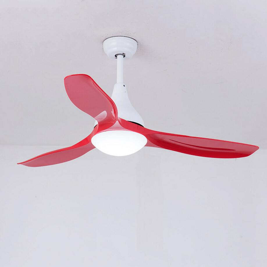 52 inch LED Ceiling Fan With Lights Remote Control 220 Volt Bedroom Ceiling Light Fan Lamp LED Bulbs free shipping in Ceiling Fans from Lights Lighting