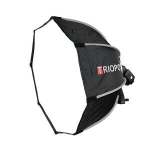 Image 2 - TRIOPO 55 см складной восьмиугольник софтбокс кронштейн держатель Мягкая коробка ручка для Canon Nikon Fuji Godox Yongnuo Вспышка светильник