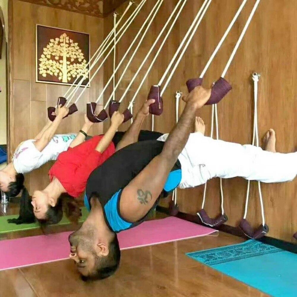 Iyengar Yoga Anti-gravit Yoga Mur Cordes Sling Pratique câble de traction Accrocher Cordon de Formation Pilates Yoga Ceintures Aérienne Vitalité Corde