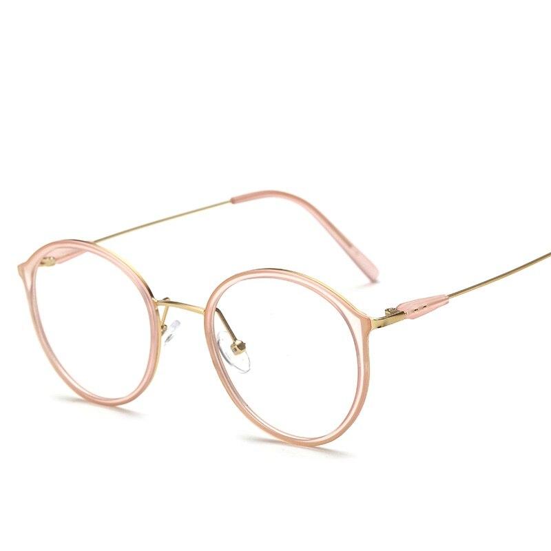 SOLO TU Fashion Trend TR90 Metal Round Eyewear Frame Light Cosy Men ...