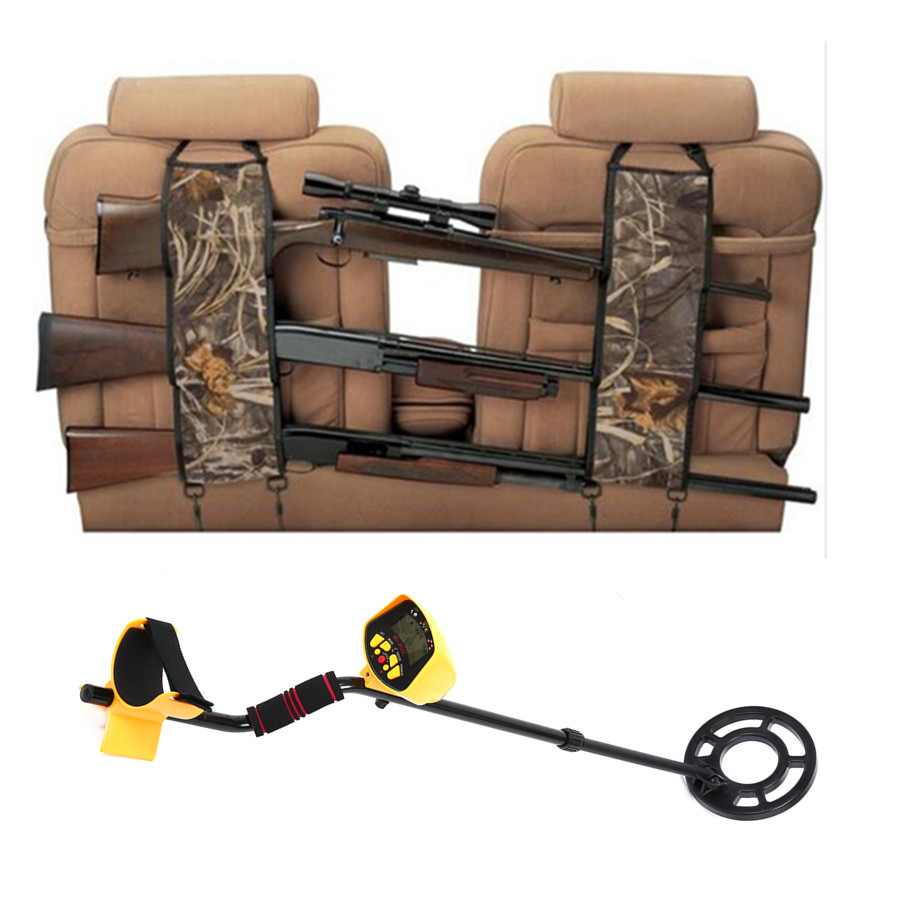 Vehicle Front Seat Storage Gun Sling Bag Back Seat Hanging Metal Detector Rack Case Hunting Holsters Organizer with Pockets