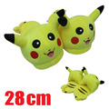 "Nueva Pokemon Pikachu 11 ""Adulto Plush Slipper 1 Par de Zapatos de cosplay de Anime"