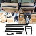 8 Pcs / Set  for Porsche Cayenne 958 Carbon Fiber Interior Cover 2011 2012 2013 2014 2015 2016 Add on Style Glass Black Finish