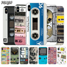 Fundas Silicone Phone Back Case For Apple iPhone 6 6S 7 8 Plus X 10 XS MAX XR 5 5S SE Heart Cover Vintage Tape Camera Gameboy