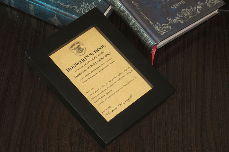 hogwarts school letter of admission halloween christmas birthday party invitation custom festive gift for adult children