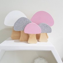 3pcs/set INS Mushroom Wooden Block Ornaments Wood Building Blocks Toys Gifts For Baby Children Room Decoration Photography Props ins nordic style wooden rainbow building blocks for baby room decoration ornaments wood educational toys gifts photography props