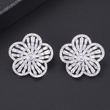 SISCATHY Luxury Goegeous Statement Stud Earrings Charms Women Girls Flower Jewelry Gifts boucle doreille femme