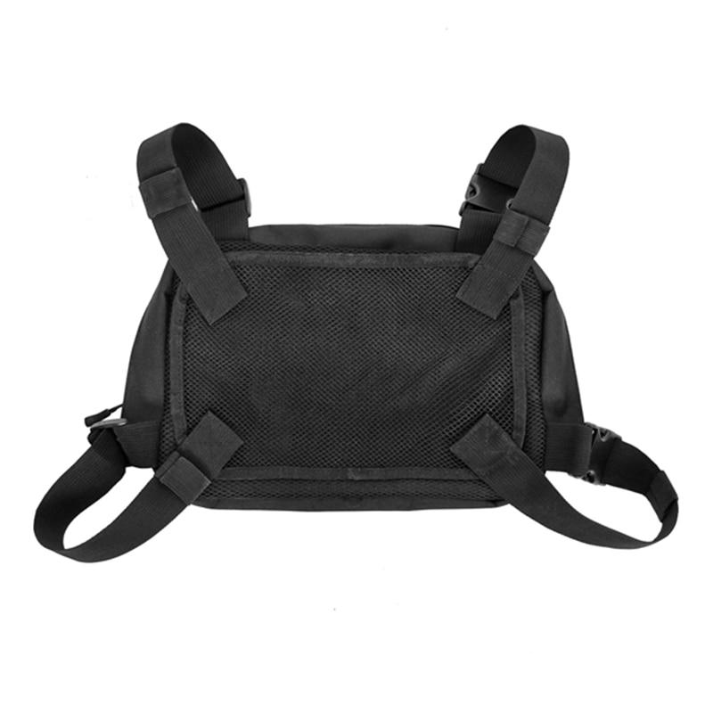 Black Chest Rig Bags Waist Bag Hip Hop Streetwear Functional Chest Bag Cross Shoulder Bags