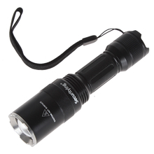 SecurityIng LED Flashlight 600LM XM-L T6 LED Zoomable 5 Modes with Stainless Steel Head 600lm 1 8a 5 mode white led drop in module for ultrafire c8 flashlight 3 0 4 2v