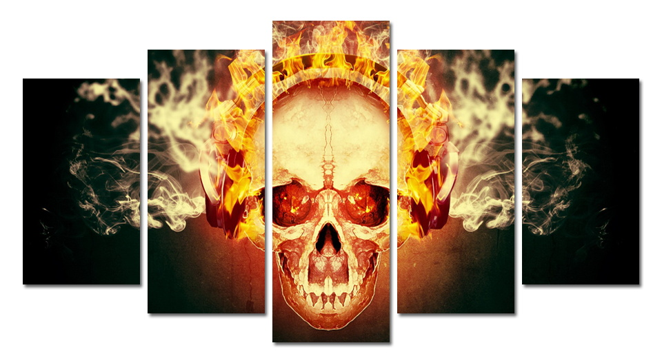 Free shipping abstract fire poster wall painting decoration for living room no framed wholesale wall art painting poster canvas