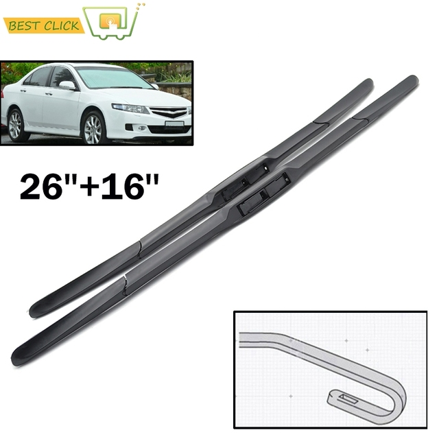 Misima Windshield Windscreen Wiper Blades For Honda Accord 7th Generation Europe An Model 26 16 2003 2004 2005 2006 2007