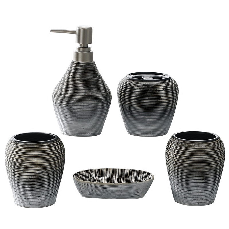 New style ceramic bathroom 5 sets of bathroom supplies furniture decoration wedding supplies Bathroom suite