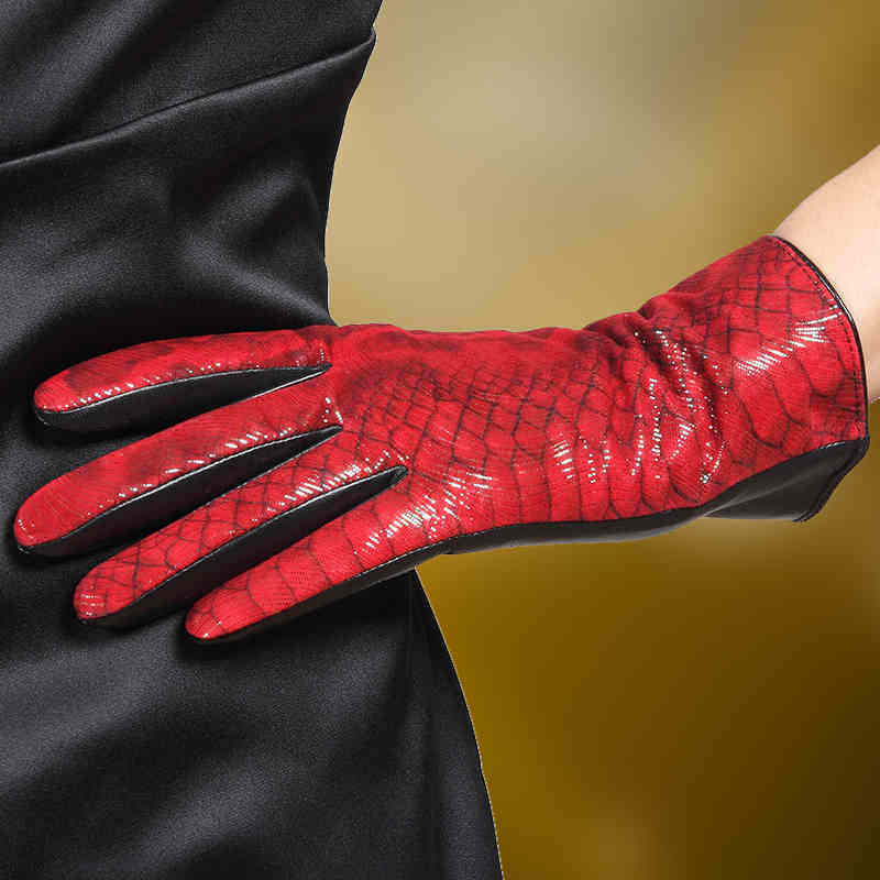 New Arrival 2018 Adult Women Gloves Colorful Goatskin