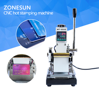 ZONESUN Best equipment 220V/110V Tipper PVC CARD Power Tool Parts Manual Hot Foil Stamper Embossing Machine