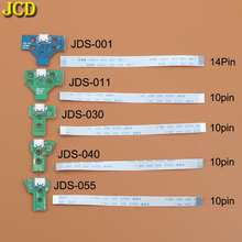 JCD Für PS4 controller USB Lade Port Buchse Ladegerät Bord Mit Band Flex Kabel JDS 001 JDS 011 JDS 030 JDS 040 JDS 055
