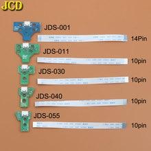 JCD For PS4 controller USB Charging Port Socket Charger Board With Ribbon Flex Cable JDS-001 JDS-011 JDS-030 JDS-040 JDS-055