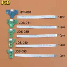 JCD Için PS4 denetleyici USB şarj portu soket şarj cihazı Kurulu Şerit Flex Kablo Ile JDS 001 JDS 011 JDS 030 JDS 040 JDS 055