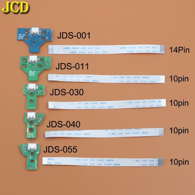 JCD ل PS4 تحكم USB ميناء الشحن شاحن مقبس مجلس مع الشريط فليكس كابل JDS 001 JDS 011 JDS 030 JDS 040 JDS 055