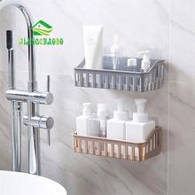 JiangChaoBo Strong Viscose Bathroom Shelves Bathroom Supplies Toilet Plastic Wall-Mounted Shelf Storage Rack Wash Rack sveto pismo starega in novega zakona%3%3