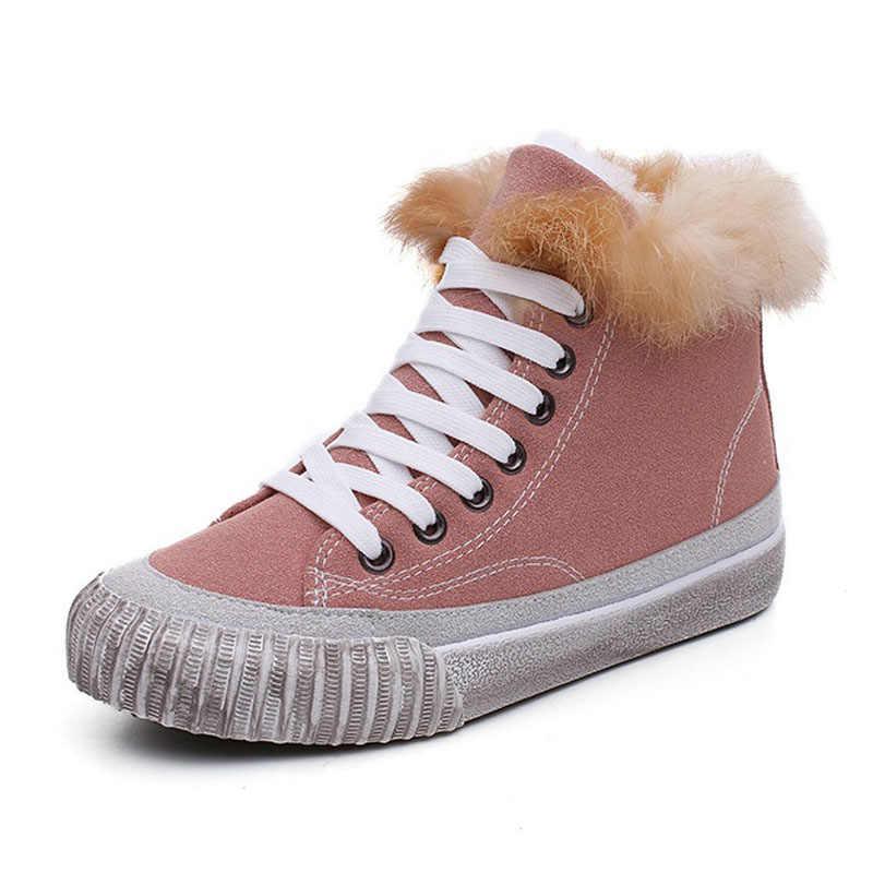 Fanyuan Kadın Kar Botları Kalın Alt Platformu Su Geçirmez yarım çizmeler Kadınlar Için Kalın Sıcak kürk Kış sıcak Çizmeler boyutu 35- 40