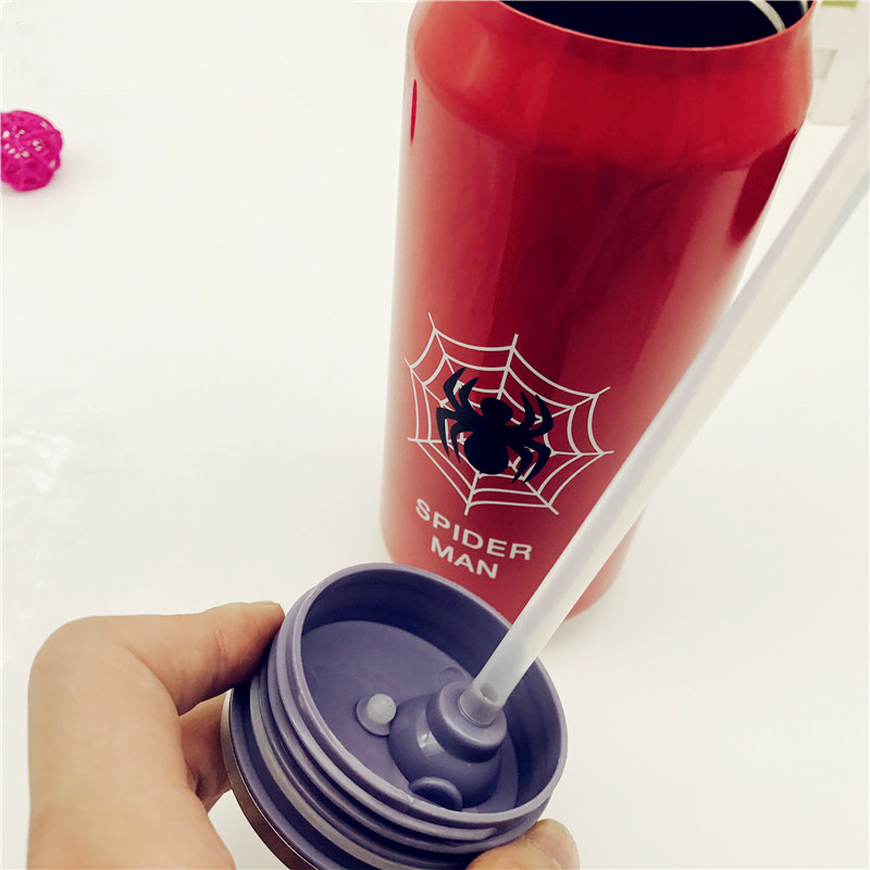Hot sale 500ML Insulated auto mug hero coffee Cup Stainless Steel Thermos Water Bottle league cans straw Vacuum Flask Travel Mug in Vacuum Flasks Thermoses from Home Garden