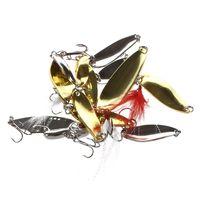 جيد deal-108pcs المحمولة الاصطناعي السحر عدة للصيد الطعوم البلمة ملعقة بوبر الساعد الصلب لينة الروبيان الرقصة هوك