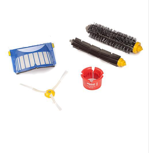 Arm Side Brush+Aerovac Filter+Bristle and Flexible Beater Brush + brush clean for iRobot Roomba 600 610 620 630 650 660 3 arm side brush
