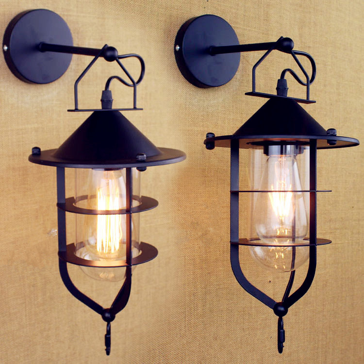 Едисон Антикни стил поткровље Индустријска зидна лампа Дневна соба ЛЕД Винтаге зидна расвета Расвета Апарати Мурале Арандела