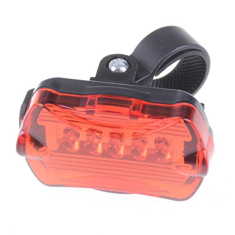 5 LED 3 Modo de Segurança Ciclismo Vermelho Bicicleta Luz Traseira Da Cauda Da Lâmpada Anti-choque com Suporte Luz Da Bicicleta À Prova D' Água de alta Potência