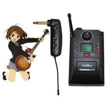 UHF portátil instrumento sistema de micrófono inalámbrico con receptor y transmisor 32 canales para guitarra eléctrica