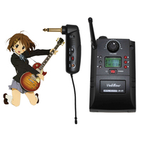 Portable UHF Instrument Wireless Microphone System with Receiver & Transmitter 32 Channels for Electric Guitar