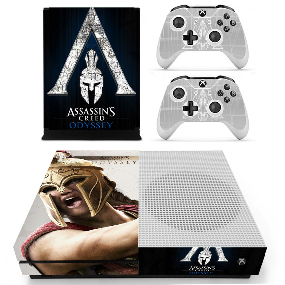 Assassins Creed Odyssey Skin Sticker Decal For Xbox One S Console and Controllers for Xbox One Slim Skin Stickers Vinyl