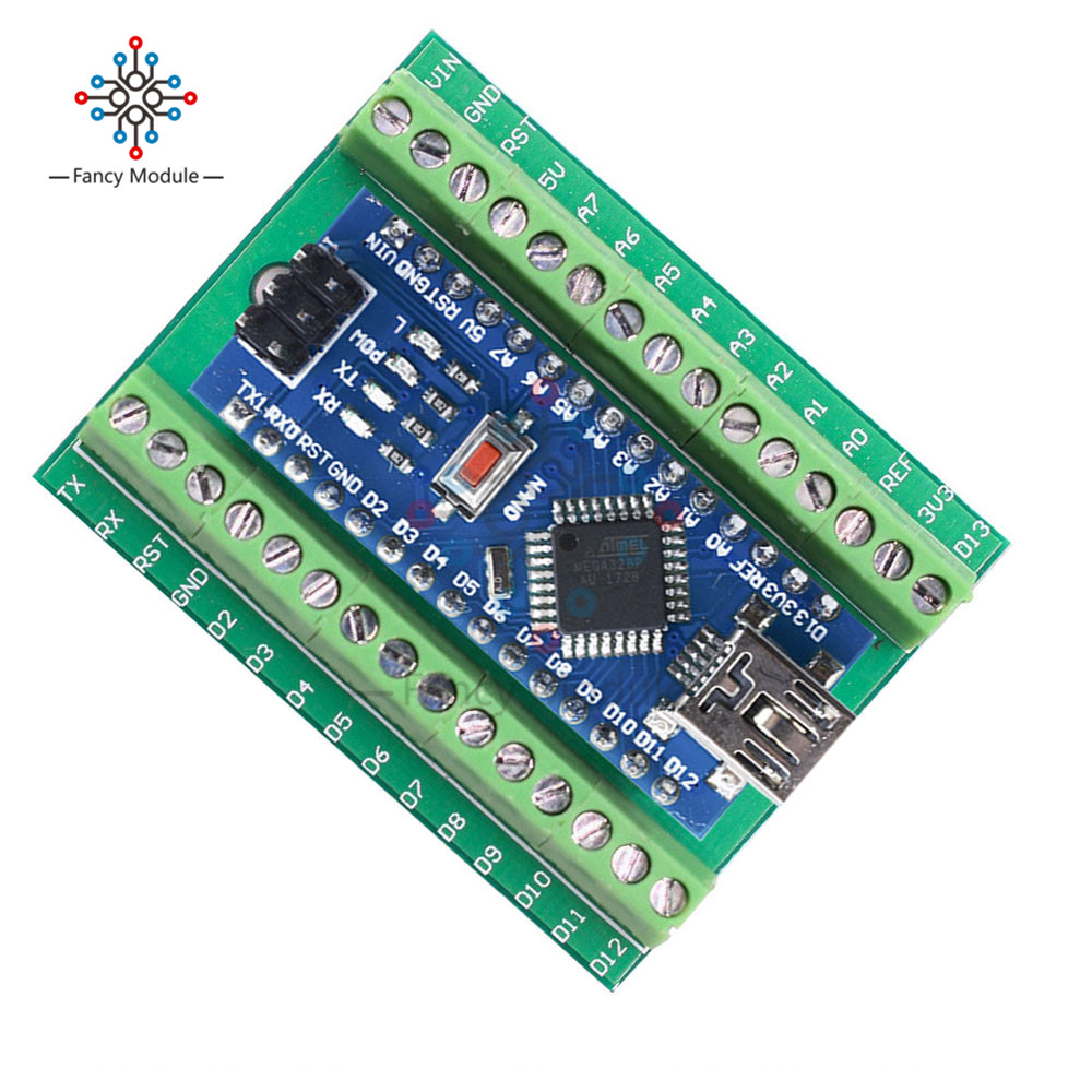 CH340 Nano V3.0 3.0 Controller Driver ATMEGA328/P Terminal Expansion Board Nano IO Shield Simple Extension Plate For Arduino
