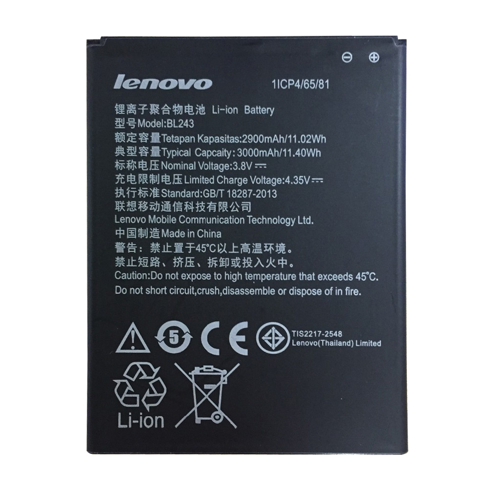 for Lenovo K3 Note original Battery 2900mAh Li ion Battery