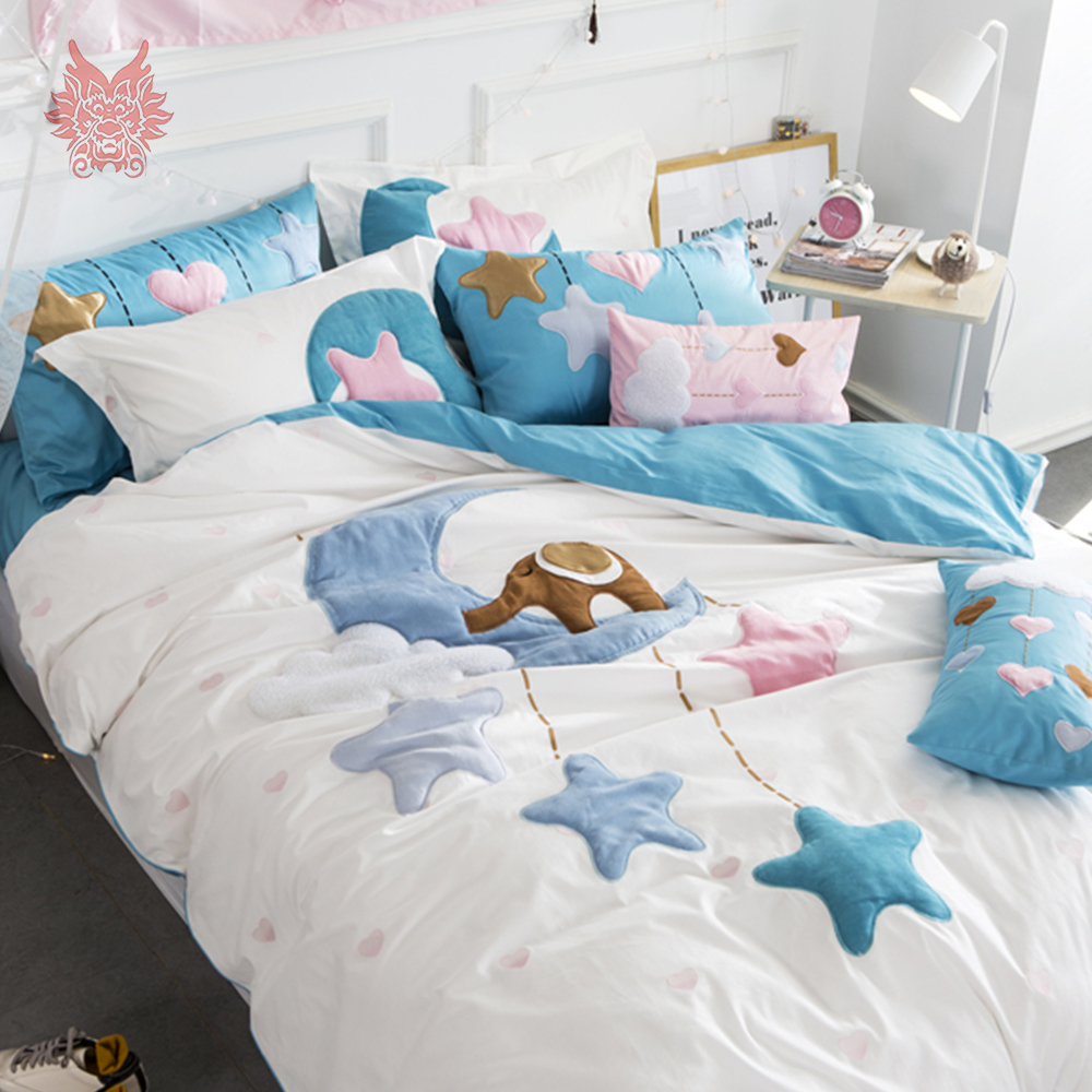 set star product luluandnat toddler original lulu cover bed and blue duvet nat cot by